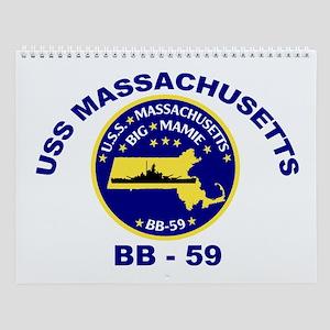 USS Massachusetts BB 59 Wall Calendar