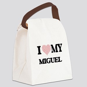 I Love my Miguel (Heart Made from Canvas Lunch Bag