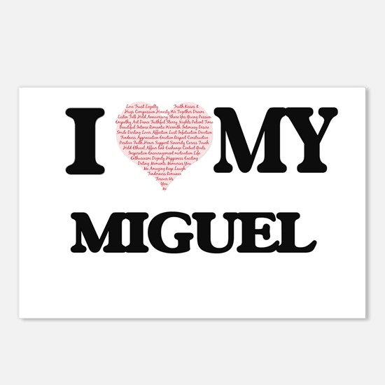 I Love my Miguel (Heart M Postcards (Package of 8)