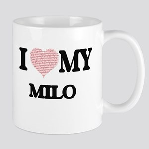 I Love my Milo (Heart Made from Love my words Mugs