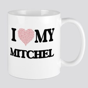 I Love my Mitchel (Heart Made from Love my wo Mugs