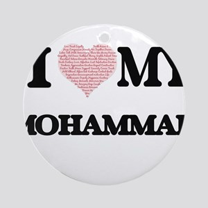 I Love my Mohammad (Heart Made from Round Ornament