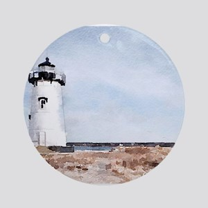 Edgartown Lighthouse Round Ornament