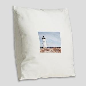 Edgartown Lighthouse Burlap Throw Pillow