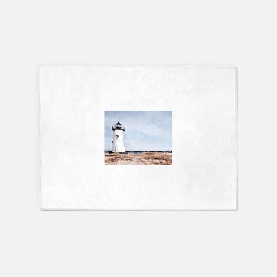 Edgartown Lighthouse 5'x7'Area Rug