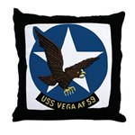USS Vega (AF 59) Throw Pillow