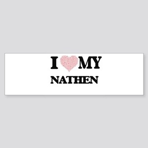 I Love my Nathen (Heart Made from L Bumper Sticker