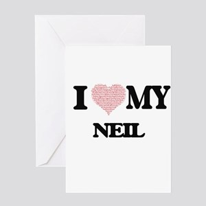 I Love my Neil (Heart Made from Lov Greeting Cards