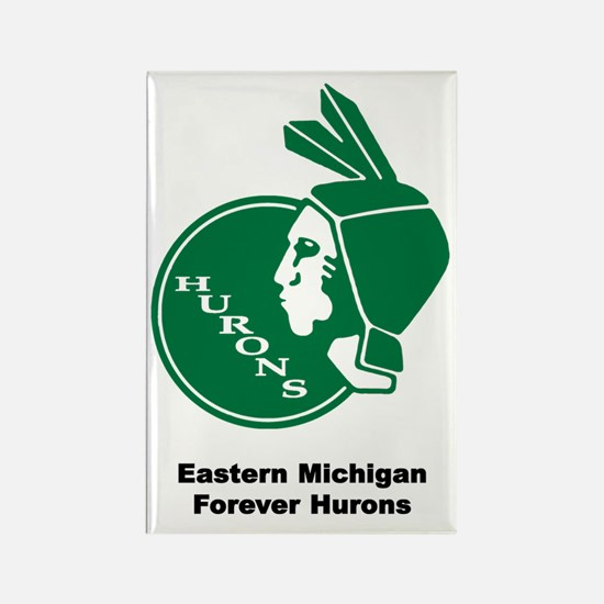 Hurons--Retro EMU Rectangle Magnet