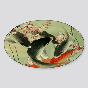 zen japanese koi fish Sticker
