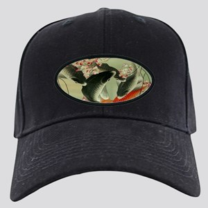 zen japanese koi fish Black Cap