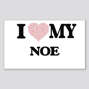 I Love my Noe (Heart Made from Love my wor Sticker