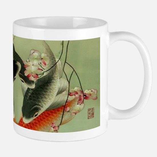 zen japanese koi fish Mugs