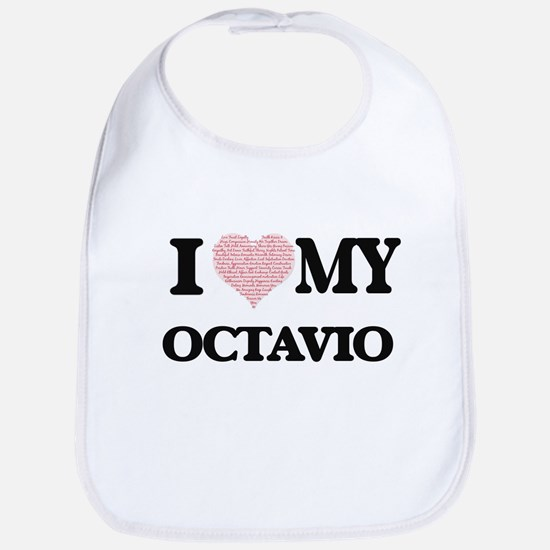 I Love my Octavio (Heart Made from Love my wor Bib