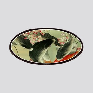 zen japanese koi fish Patch