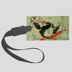 zen japanese koi fish Large Luggage Tag