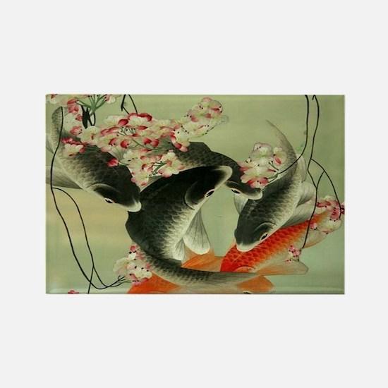 zen japanese koi fish Magnets