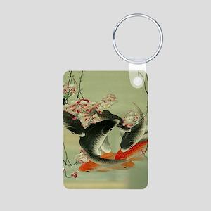 zen japanese koi fish Keychains