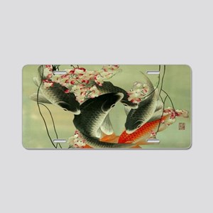 zen japanese koi fish Aluminum License Plate