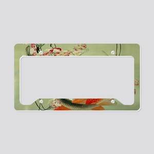 zen japanese koi fish License Plate Holder