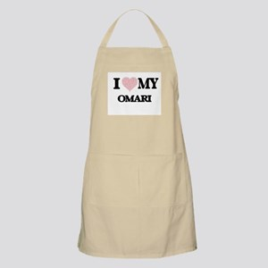 I Love my Omari (Heart Made from Love my wor Apron