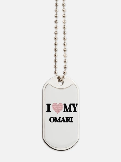 I Love my Omari (Heart Made from Love my Dog Tags