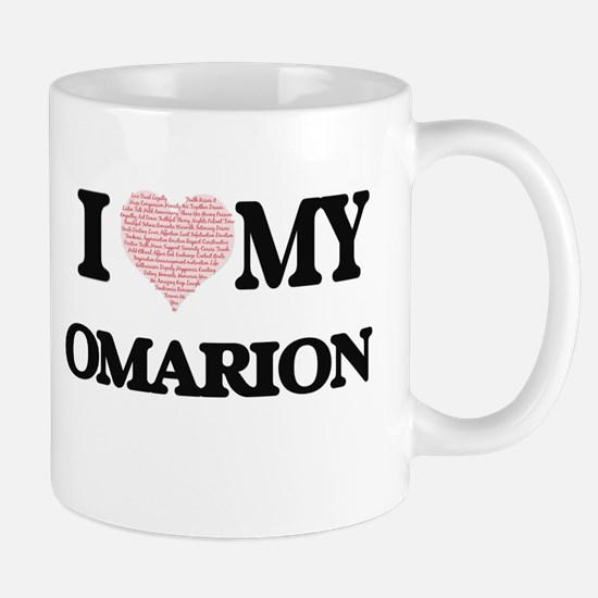 I Love my Omarion (Heart Made from Love my wo Mugs