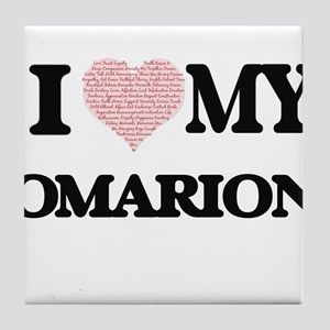 I Love my Omarion (Heart Made from Lo Tile Coaster