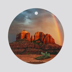 Rainbow In Grand Canyon Round Ornament