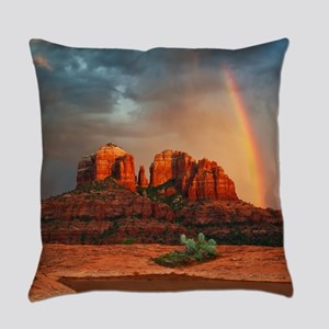 Rainbow In Grand Canyon Everyday Pillow