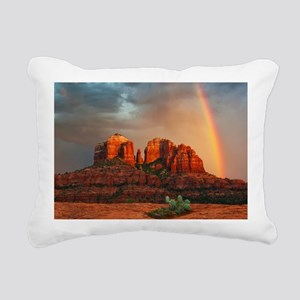 Rainbow In Grand Canyon Rectangular Canvas Pillow