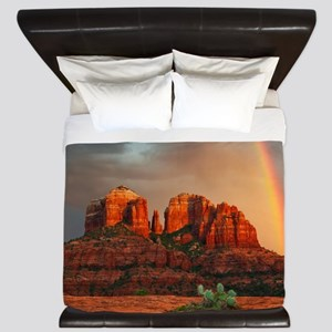 Rainbow In Grand Canyon King Duvet