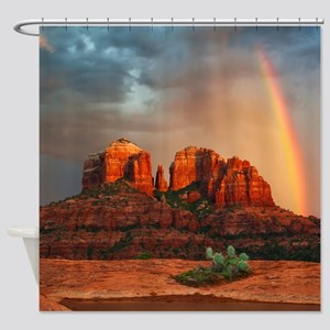 Rainbow In Grand Canyon Shower Curtain