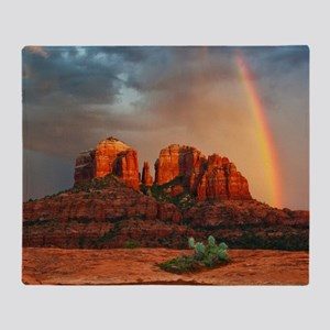 Rainbow In Grand Canyon Throw Blanket