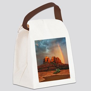 Rainbow In Grand Canyon Canvas Lunch Bag