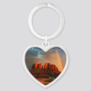 Rainbow In Grand Canyon Keychains