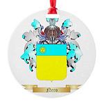 Nero Round Ornament