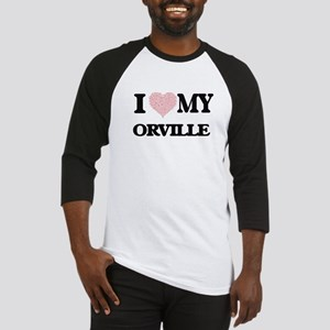 I Love my Orville (Heart Made from Baseball Jersey