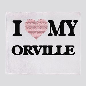 I Love my Orville (Heart Made from L Throw Blanket