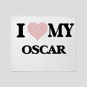 I Love my Oscar (Heart Made from Lov Throw Blanket