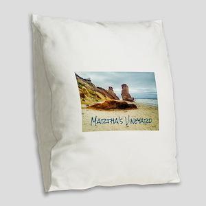 Lucy Vincent Beach Burlap Throw Pillow