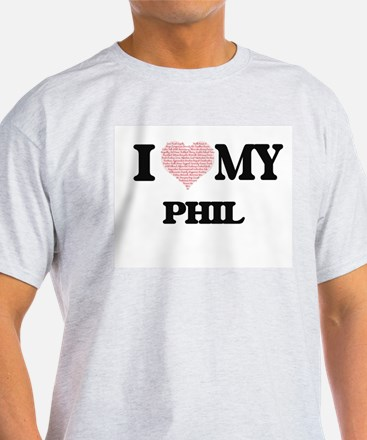 I Love my Phil (Heart Made from Love my wo T-Shirt