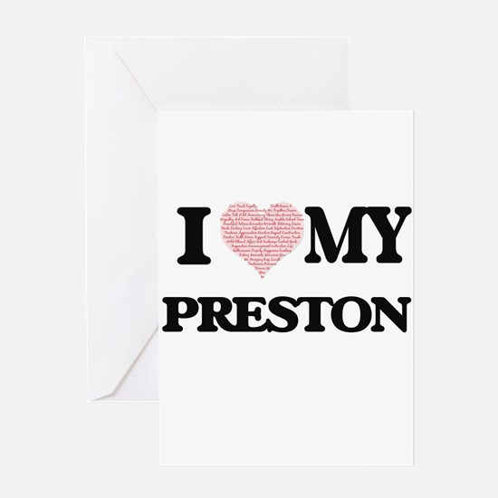 I Love my Preston (Heart Made from Greeting Cards
