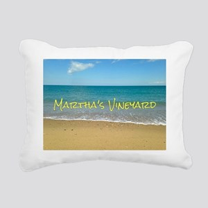 Chappaquiddick Beach Rectangular Canvas Pillow