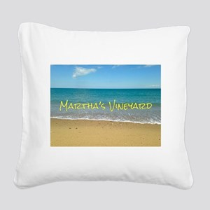 Chappaquiddick Beach Square Canvas Pillow