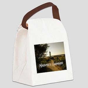 Lighthouse Path Canvas Lunch Bag