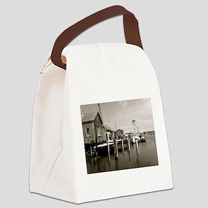 Menemsha Black & White Canvas Lunch Bag