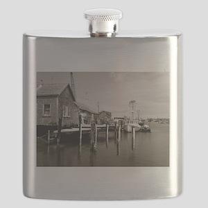 Menemsha Black & White Flask