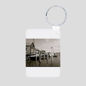 Menemsha Black & White Aluminum Photo Keychain