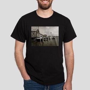 Menemsha Black & White Dark T-Shirt